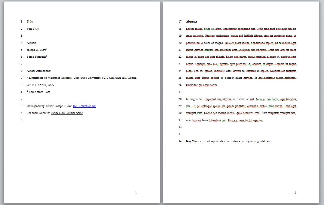 Final Project Manuscript - Advanced GIS Courses: WATS USU